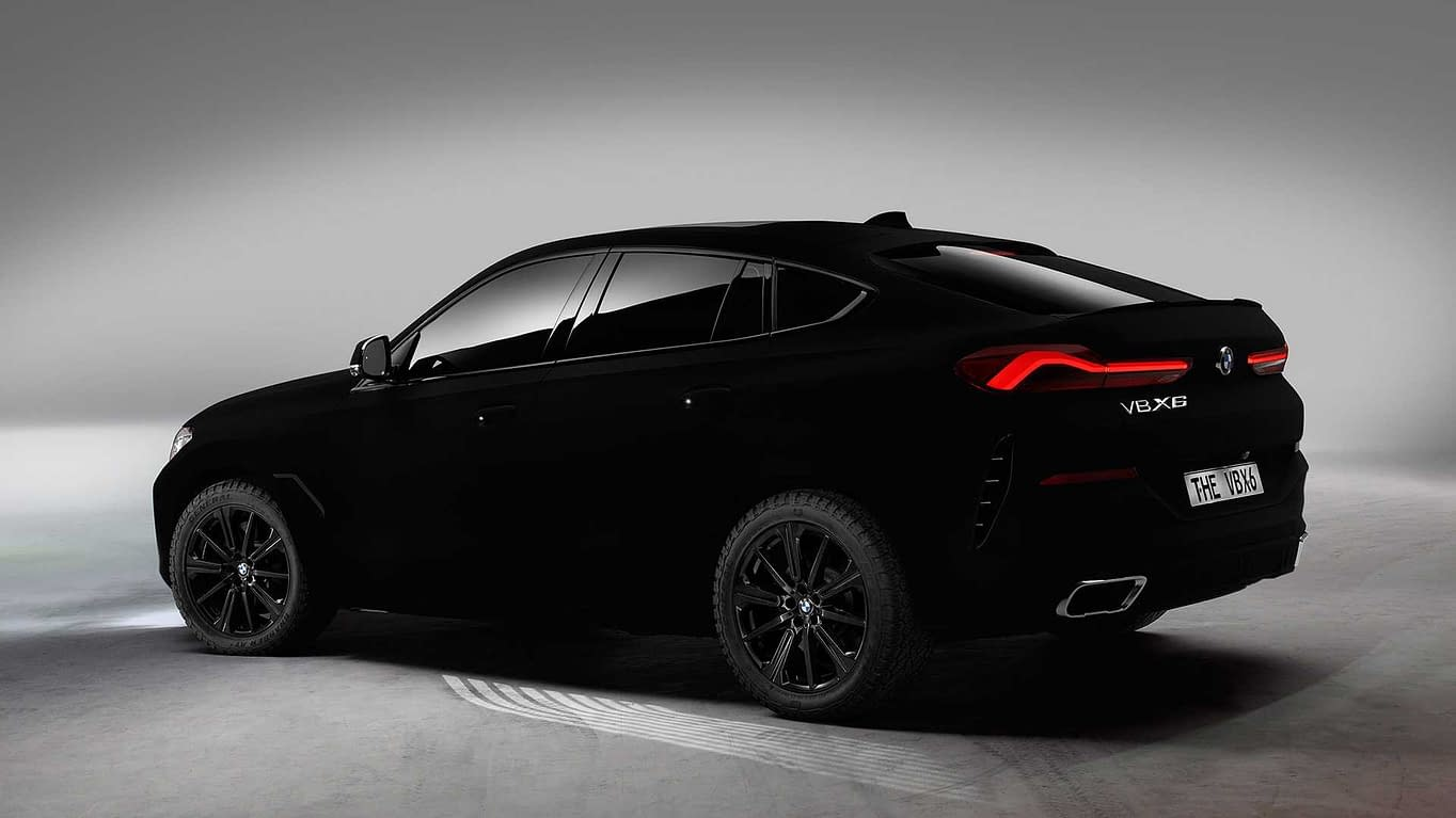 bmw x6 in vantablack 2019
